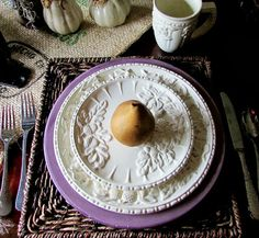 Rustic and Refined - Pumpkins and pears Fall Tablescape