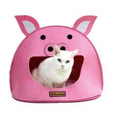 犬 ハウス 冬用クッション/寒さ対策/犬ハウス/ピンク ppt-581201 1