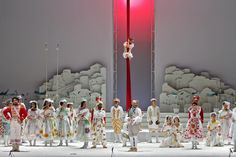 L'Elisir d'Amore from Teatro dell'Opera di Roma. Production by Ruggero Cappuccio. Sets by Nicola Rubertelli.