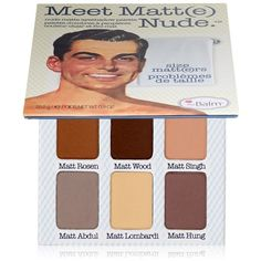 theBalm Meet Matte Nude Eyeshadow Palette (1.155 UYU) ❤ liked on Polyvore featuring beauty products, makeup, eye makeup, eyeshadow, brown, palette eyeshadow and thebalm