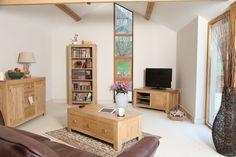 Bevel Solid Light Oak Range - Living Room Furniture - Oak ...