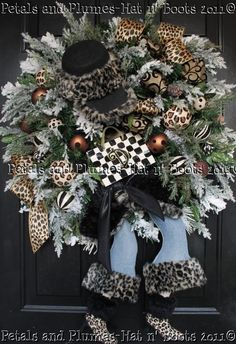 "petals and plumes holiday wreaths | & plumes | MADE to ORDER - ""Shopping Diva"" Winter Wreath - Christmas ..."