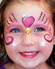 heart fairy face painting