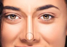 Learn How to Contour Your Nose Step By Step Guide! - Makeup Techniques Nose , Learn How to Contour Your Nose Step By Step Guide! Learn how to contour your nose Ling. How To Contour Your Face, Eye Contour, Contour Makeup, How To Apply Makeup, Learn Makeup, Basic Makeup, Eyeshadow Step By Step, Makeup Step By Step, Nose Makeup