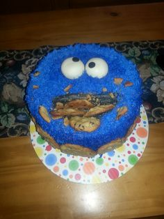 Cookie Monster first birthday. Customer loved it. :-)