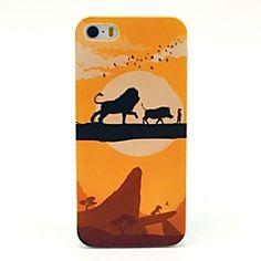 Patroon dier Lion Cartoon Hard hoesje voor iPhone 5/5S