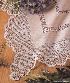 الكروشيه.  الدانتيل والحدود (5) (507x602, 341Kb)            Lovely tablecloth edging