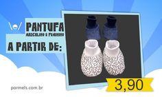 Pantufa de bebê até 3 meses R$ 3,90 temos tamanhos maiores até 6 meses por R$ 5,90