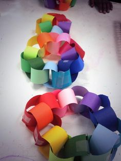 Color Wheel Link 3 D Paper First Second Third Fourth