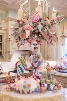 The island in my Candyland Christmas Kitchen!