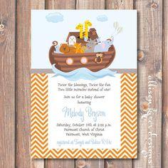 Noah's Ark Printable Invitation by AllisonKizerDesigns on Etsy, $16.50