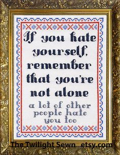 Cross Stitch Designs, Cross Stitch Patterns, Cross Stitching, Cross Stitch Embroidery, Subversive Cross Stitches, Cross Stitch Quotes, Lettering, Needlework, Funny Quotes