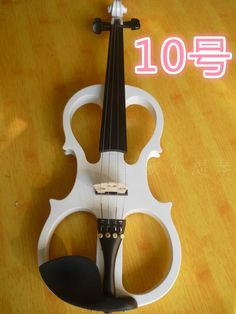 109.25$  Watch here - http://alim2i.worldwells.pw/go.php?t=32379932265 - N10 High quality white color electric violin 4/4 violin handcraft violino Musical Instruments violin Brazil Wood bow 109.25$