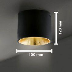 Ceiling LED / Modern / Black / Golden / Luminaire Spotlight Spotlight Ceiling lamp ...  #black #ceiling #golden #luminaire #modern #spotlight Recessed Spotlights, Ceiling Spotlights, Home Ceiling, Ceiling Lamp, Interior Lighting, Lighting Design, Bakery Shop Design, Led Spots, Lamp Switch