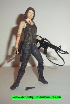 Todd McFarlane toys AMC's THE WALKING DEAD action figures 2014 series 8, MAGGIE GREEN 100% COMPLETE with all weapons, accessories, and parts condition: excellent - displayed only / collectable conditi