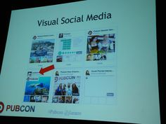 Don't forget about visual social media in your marketing. There is more to social than Facebook and Twitter #pubcon