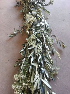 Olive Leaf and Babys Breath Garland – The Garland Guy