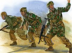 Fallschirmjager paratroopers in the desert