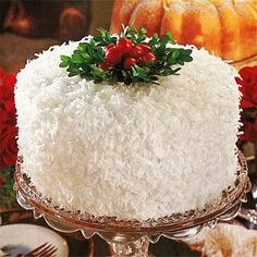 Coconut-Lemon Cake by Southern Living. This Coconut Lemon Cake is a classic Christmas white cake in every way, with three golden yellow layers and fluffy seven-minute frosting.