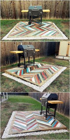 DIY Outdoor Pallet Decking