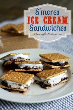 Smore Ice Cream Sandwiches - www.thelilypadcottage.com