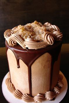 German Chocolate Cake. I think my soul just went to heaven! <3 More