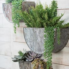 8H Novelty Metal Planters - Medium Silver - Foreside Home&Garden