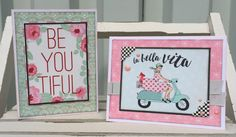 Awesome retro cards using Authentique Fabulous line.
