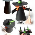 Paper+cone+witch