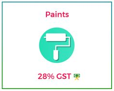 #GSTRate on Paints