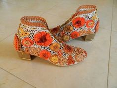 Crochet shoes @ Vedika gajjar