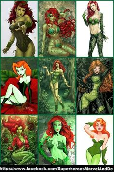 Poison Ivy collage - COSPLAY IS BAEEE! Tap the pin now to grab yourself some BAE Cosplay leggings and shirts! From super hero fitness leggings, super hero fitness shirts, and so much more that wil make you say YASSS! Poison Ivy Batman, Poison Ivy Kostüm, Poison Ivy Comic, Poison Ivy Makeup, Poison Ivy Dc Comics, Poison Ivy Cosplay, Poison Ivy Costumes, Poison Ivy Halloween Costume, Univers Dc