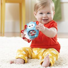 Little hands stay busy as they twist and turn this cute character to discover a hidden mirror. Featuring soft teethers and colorful rattle beads, little ones engage in sensory development and practice motor skills as they play. Baby Toys, Kids Toys, Children's Toys, Activity Toys, Activities, Surprise Baby, Musical Toys, Baby Swings, Baby Safe