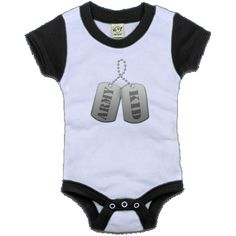 Army Kid Color Block Infant Creeper - Black and White