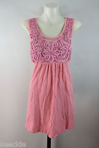 ONE Size Metalicus Ladies Paradise Tank Pink Stretch Tunic TOP Boho Chic | eBay