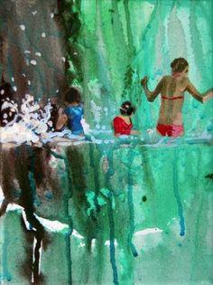 "Saatchi Art Artist Grażyna Smalej; Painting, ""Four figures"" #art"