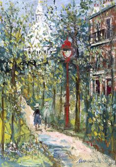 bofransson:  Maurice Utrillo (1883-1955) Square Saint-Pierre et Sacré-Coeur, Montmartre
