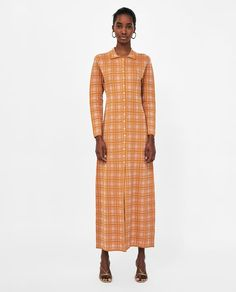 ZARA - WOMAN - LONG CHECK DRESS