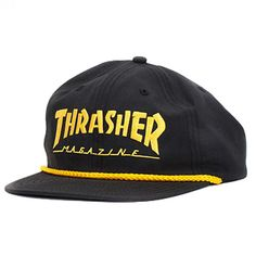 a4555d6a17b Thrasher - Rope Snapback - Black. Thrasher OutfitHats For MenBaseball CapOutfitsProductsBucket  HatSnapbackClothesSkateboard