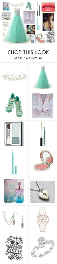 """""""Untitled #66"""" by fashionistamusiclover ❤ liked on Polyvore featuring Matthew Williamson, Once Upon a Time, Clinique, Stila, Chantecaille, Anna Sui, Marc by Marc Jacobs and Darice"""
