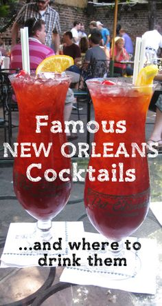 Famous New Orleans Cocktails You Must Try (and Where!) 9 Top Cocktails in New Orleans and where to go to drink them New Orleans Vacation, New Orleans Travel, New Orleans Trip, Nola Vacation, Louisiana New Orleans, Jambalaya, Top Cocktails, Famous Cocktails, All I Ever Wanted