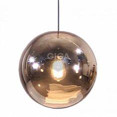 HK Living Lamp Glazen Bal Koper