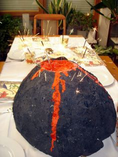 Vulkan basteln - Kinderspiele-Welt.de