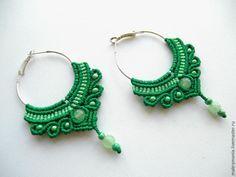 Create a simple and beautiful earrings in macramé technique - Fair Masters - handmade, handmade