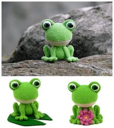 Crochet Tea Cosy Free Pattern, Crochet Keychain Pattern, Crochet Frog, Crochet Animal Amigurumi, Crochet Baby Toys, Crochet Square Patterns, Crochet Amigurumi Free Patterns, Crochet Animal Patterns, Stuffed Animal Patterns