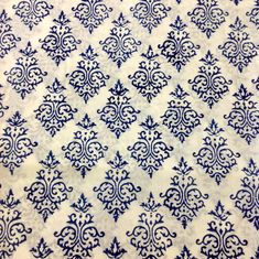 Indian Block Print Fabric: Organic Cotton Fabric By DesiCrafts