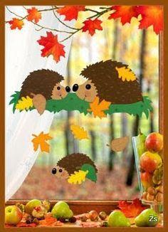 Risultati immagini per herbst paper craft Decoration Creche, Class Decoration, School Decorations, Kids Crafts, Diy And Crafts, Arts And Crafts, Paper Crafts, Diy Paper, Autumn Crafts