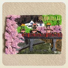 岐阜県・飛騨高山のマグネットです。こちらは日本三大美祭の1つ高山祭のもの。お祭りの時期には行けなかったのでいつか高山祭の時に行きたいな〜。
