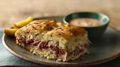 Make these scrumptious Reuben sandwiches using Original Bisquick® mix. Enjoy this baked dinner packed with corned beef and sauerkraut.