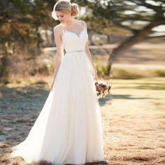 Tulle Illusion Applique Court Train A Line Wedding Dress 2017 Vestido De Casamento Bridal Gown Wedding Gowns